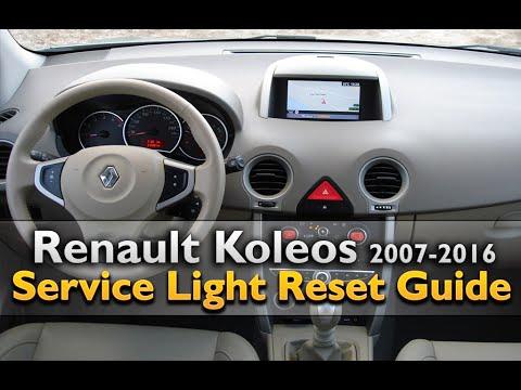 renault koleos service light reset youtube. Black Bedroom Furniture Sets. Home Design Ideas