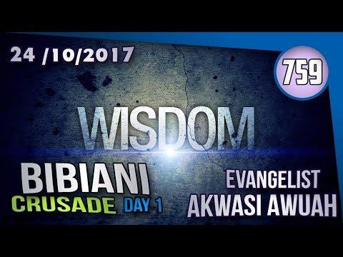 WISDOM IS CALLING BY EVANGELIST AKWASI AWUAH