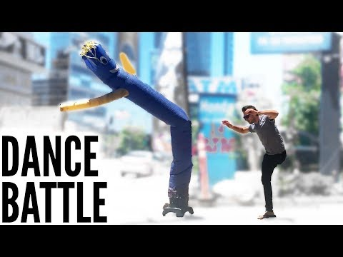 Dance Battle with Inflatable Tube Man
