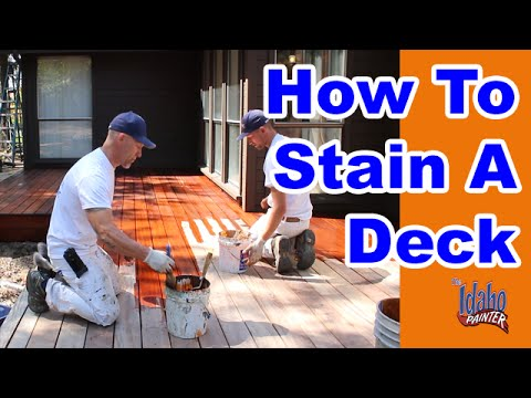How To Stain A Deck Tips Hacks Staining Wood