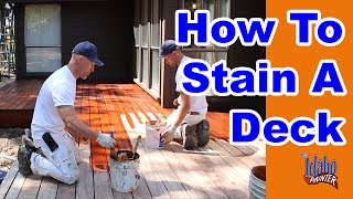 How To Stain a Deck. Tips & Hacks Staining A Wood Deck.