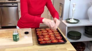 Oven Roasted Pesto Tomatoes