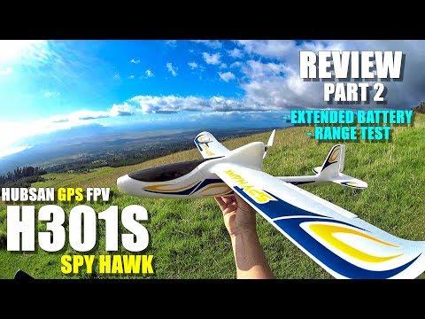 HUBSAN H301S SPY HAWK Review - Part 2 - [Extended Battery, Range Test, Acrobatics, Crash Test 😱]
