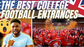 🇬🇧BRIT Rugby Fan Reacts To THE BEST COLLEGE FOOTBALL ENTRANCES!