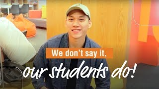 We don't say it, our students do!