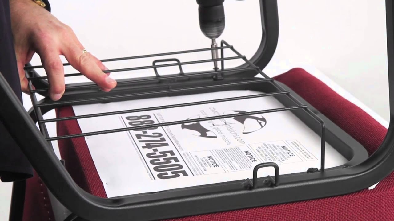 how to install a book rack on your church chair youtube