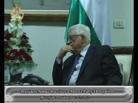 President Abbas Receives a Meretz Party Delegation