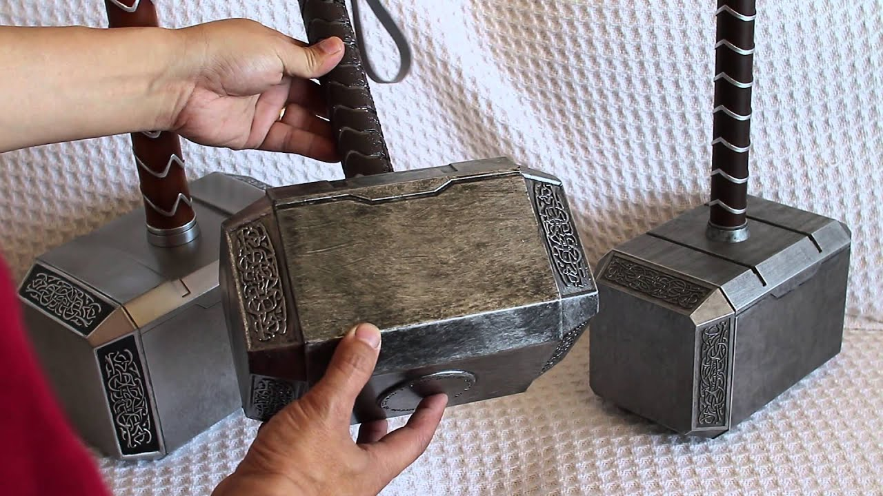 mjolnir comparison part 2 of 3 hammerheads and handles thor