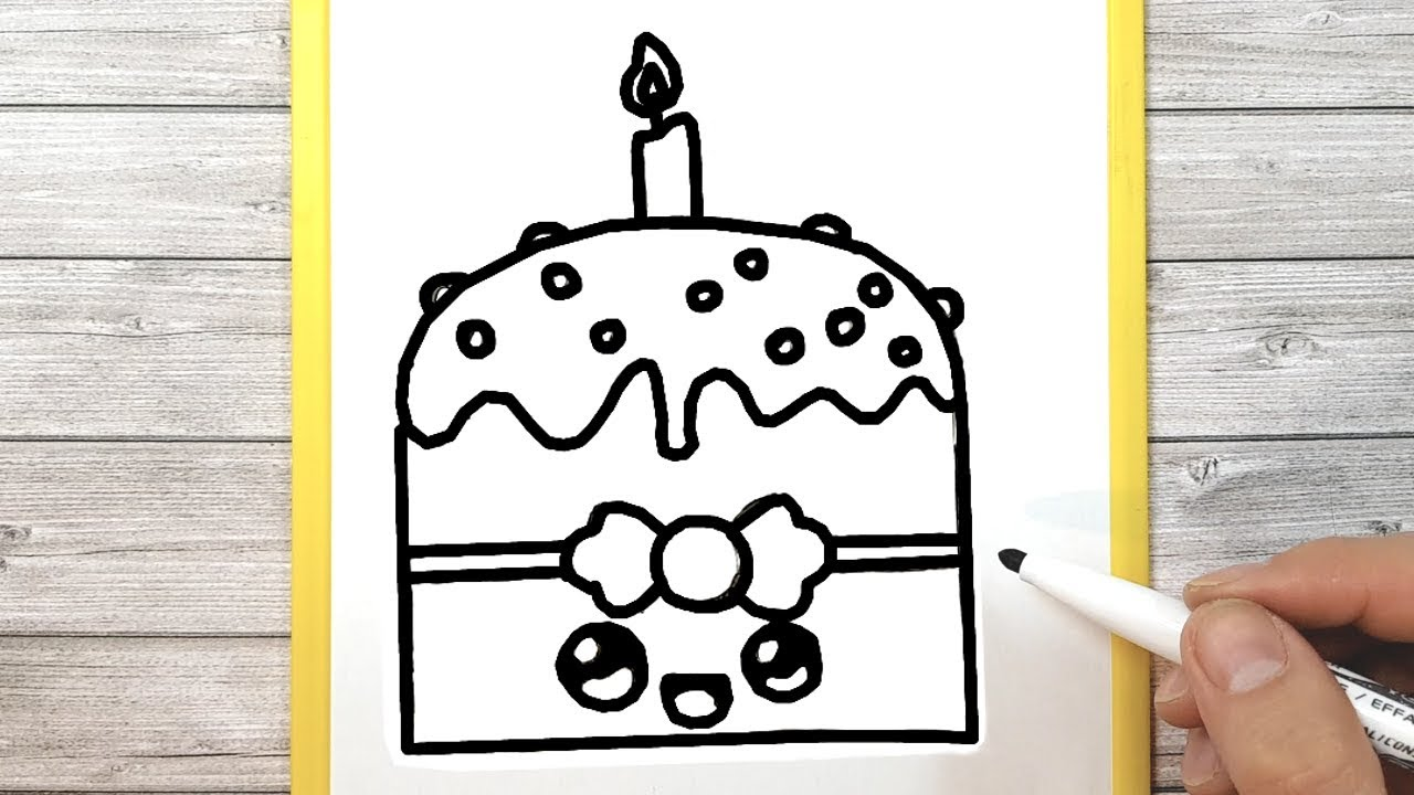 DRAW A KAWAII BIRTHDAY CAKE
