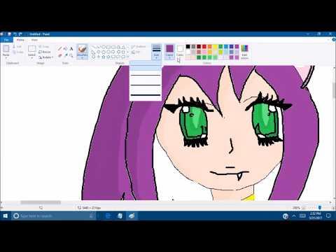 Drawing Neko Chibi Girl w/ Anime Music
