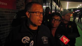 Detroit Police Chief James Craig updates media on officer shooting
