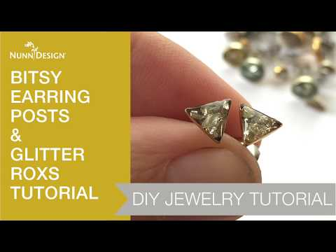 Make These Bitsy Earrings with Glitter Roxs & Nunn Design Resin