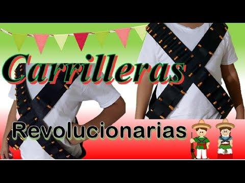 COMO HACER CARRILLERAS REVOLUCIONARIAS (EVENTOS ESCOLARES) - YouTube
