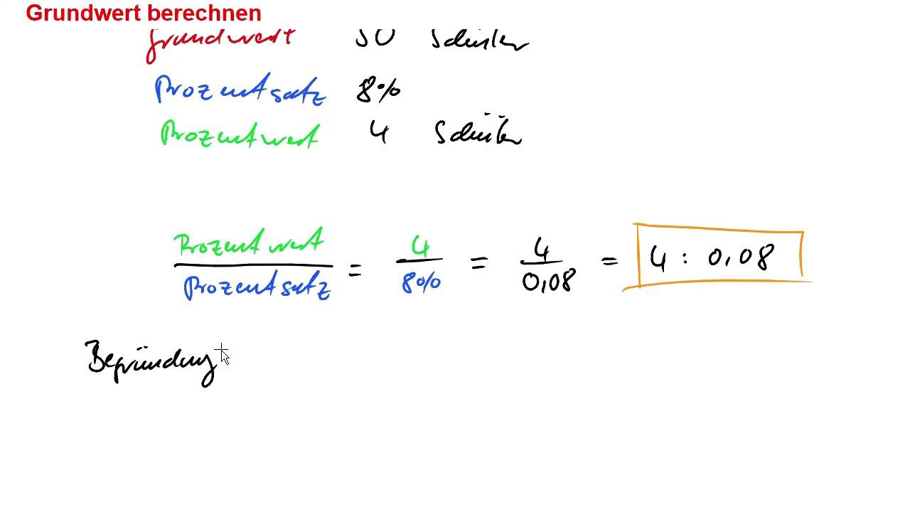 grundwert berechnen