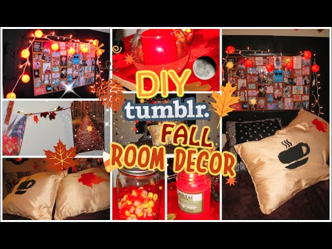 diy tumblr inspired fall room decor for teens cute and cozy cartneybreanne youtube. Black Bedroom Furniture Sets. Home Design Ideas