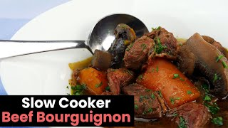Hearty Slow Cooker Beef Bourguignon