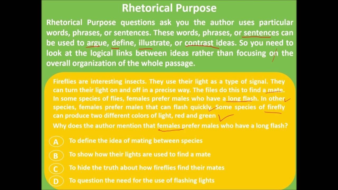define rhetorical purpose