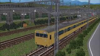 新VRM3★仮想越河駅レイアウトNo224電車96 103系JR高運転台カナリア関西圏
