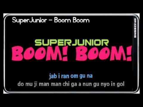 Super Junior - Boom Boom (Sing-along Simple Romanized Lyric)
