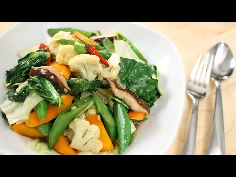 Thai Mixed Veg Stir-Fry Recipe ผัดผักรวม - Hot Thai Kitchen!