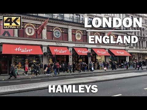STORE TOUR   Walk around Hamleys , London England [4K]