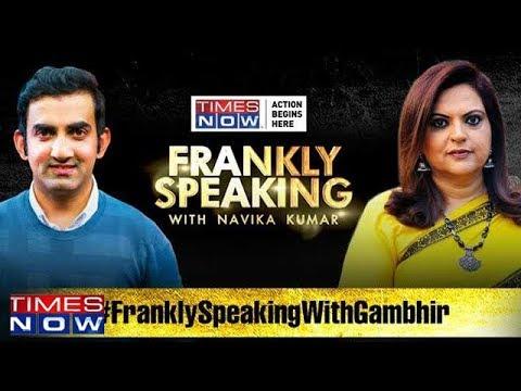 Frankly Speaking with Gautam Gambhir | Full Interview