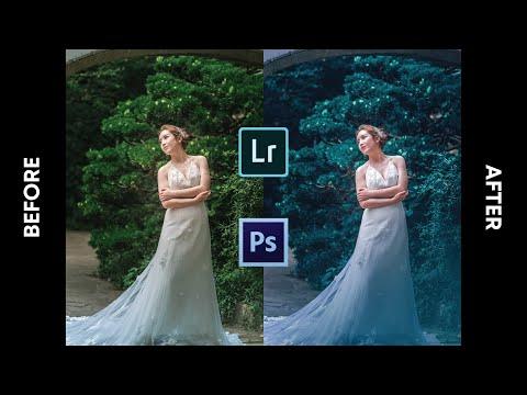 Wedding Photo Editing | Earthy Green Color Grading | Lightroom & Photoshop Tutorial thumbnail
