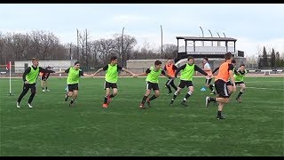 "SoccerCoachTV.com - ""Stick Together Game"", Team Building."