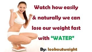 Detox with water to lose weight fast.