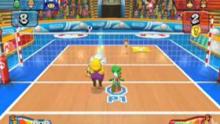 Mario Sports Mix Single Player Volleyball Pt 2