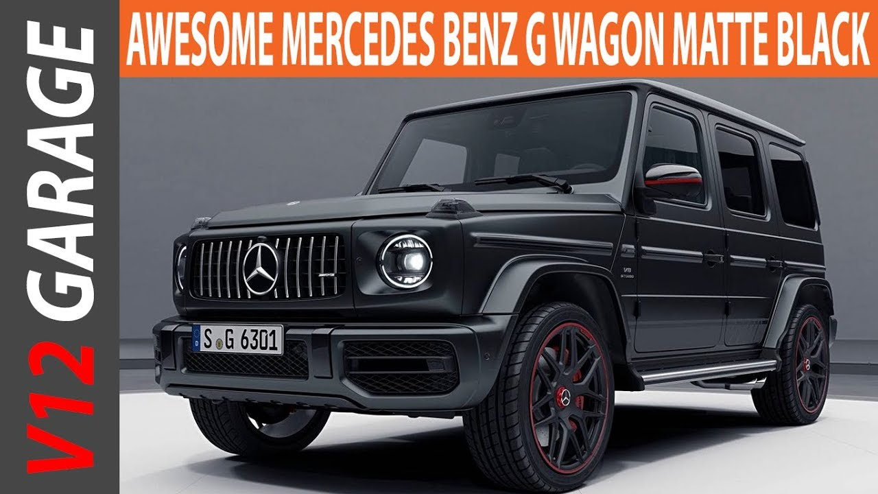 Awesome Mercedes G Wagon Matte Black Review Youtube