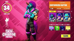 how to customize skins in fortnite fortnite battle royale custom skins tab update duration 10 33 - daft punk fortnite skin