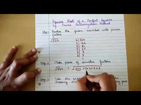 Finding Square Root By Prime Factorization Method Youtube For any positive number x. finding square root by prime factorization method