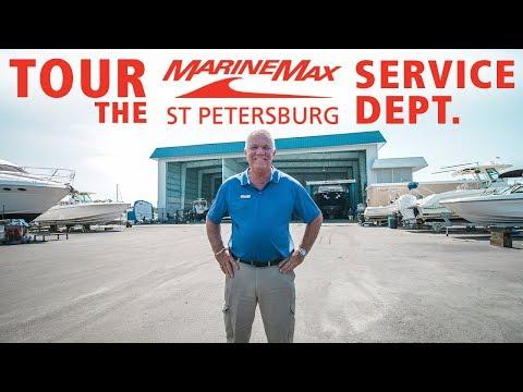 Huge Yacht Center Tour - MarineMax St. Petersburg Service Department