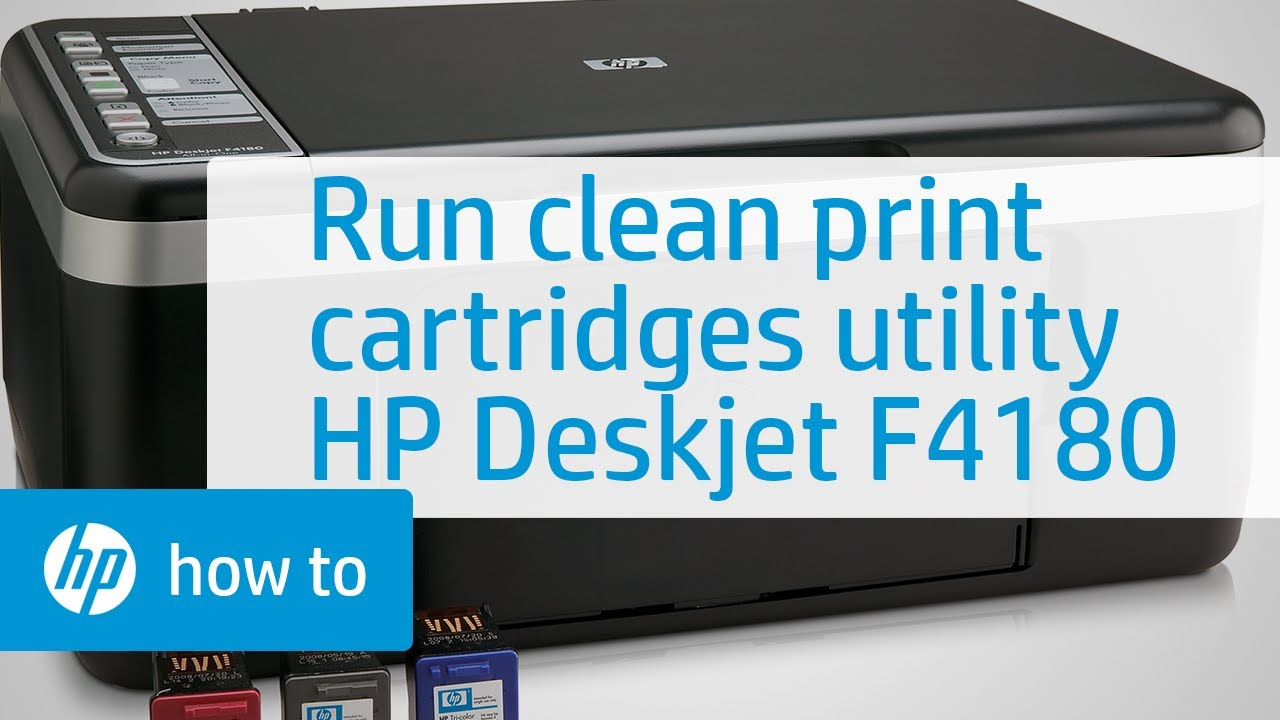 How to Run the Clean Print Cartridges Utility - HP Deskjet F4180 | HP  Deskjet | HP