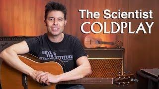 The Scientist 🎸Coldplay en guitarra |  CLASE y Tutorial canción súper fácil afinación por cuartas