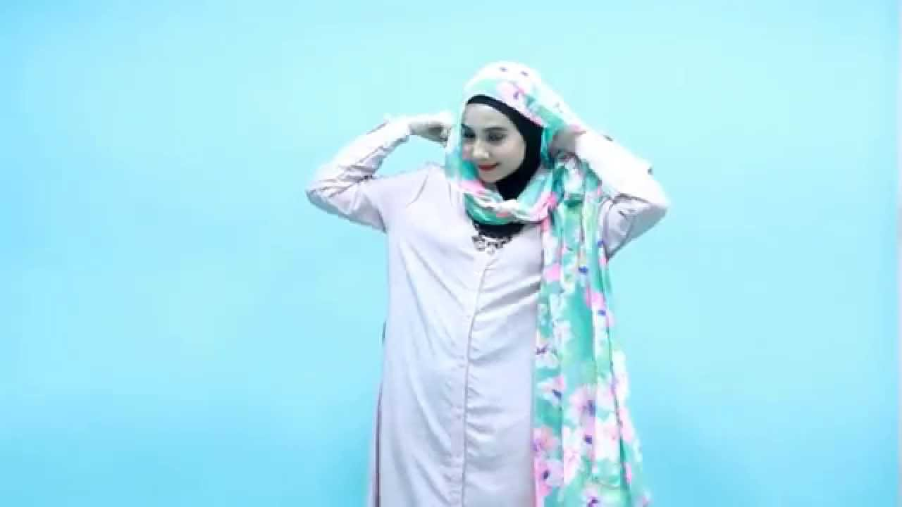 Tutorial Hijab Zaskia Sungkar Floral Basic YouTube