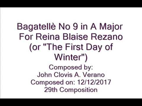 Bagatellè No 9 in A Major by: John Clovis A. Verano