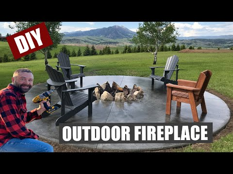How to Build an Outdoor Fireplace Patio