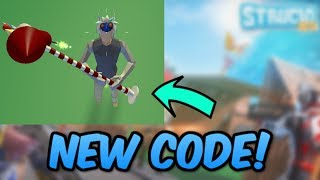 *NEW* FREE WORKING PICKAXE CODE! *100M VISITS!* (Roblox Strucid)