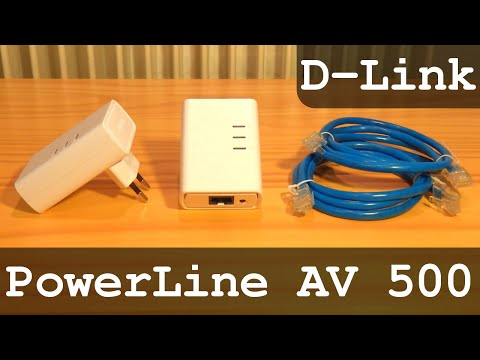 D-Link PowerLine AV 500 HD Starter Kit DHP-509AV 500Mbps   Unboxing - Configuration - Test