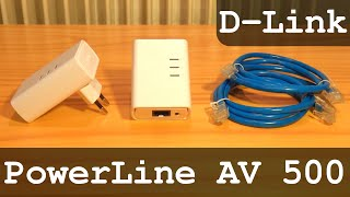 D-Link PowerLine AV 500 HD Starter Kit DHP-509AV 500Mbps | Unboxing - Configuration - Test