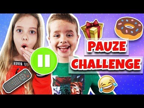 DE PAUZE CHALLENGE !! ⏸😂 - Broer en Zus TV #287