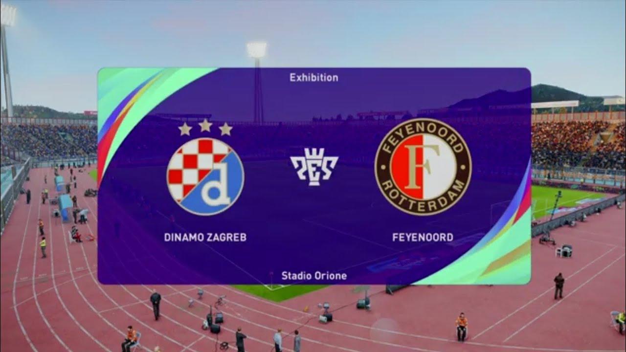 Dinamo Zagreb Vs Feyenoord Rotterdam Pes 21 Europa League Live Gameplay Youtube