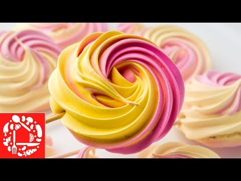 Как сделать разноцветные безе