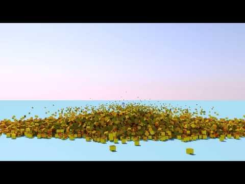 Cinema 4D - Gold Cubes (Angle 1)
