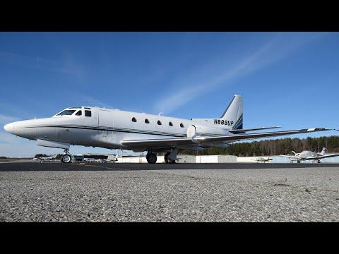 N888UP Sabreliner 65 Takeoff AVL (Evening)