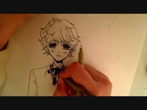 Drawing A Cute Anime Manga Boy Youtube