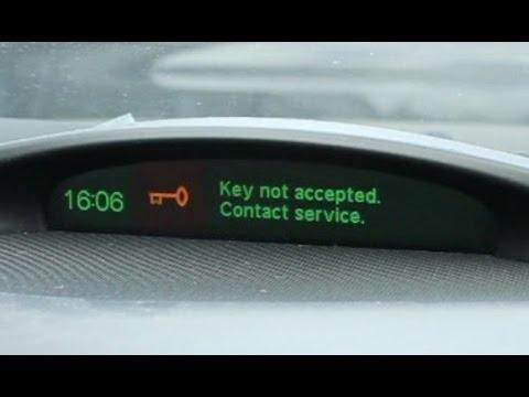 Saab 93 - Key not accepted - Contact Service - Car Key Replacement