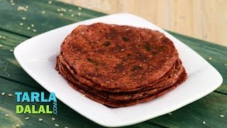 Beetroot And Sesame Roti (healthy Breakfast) By Tarla Dalal